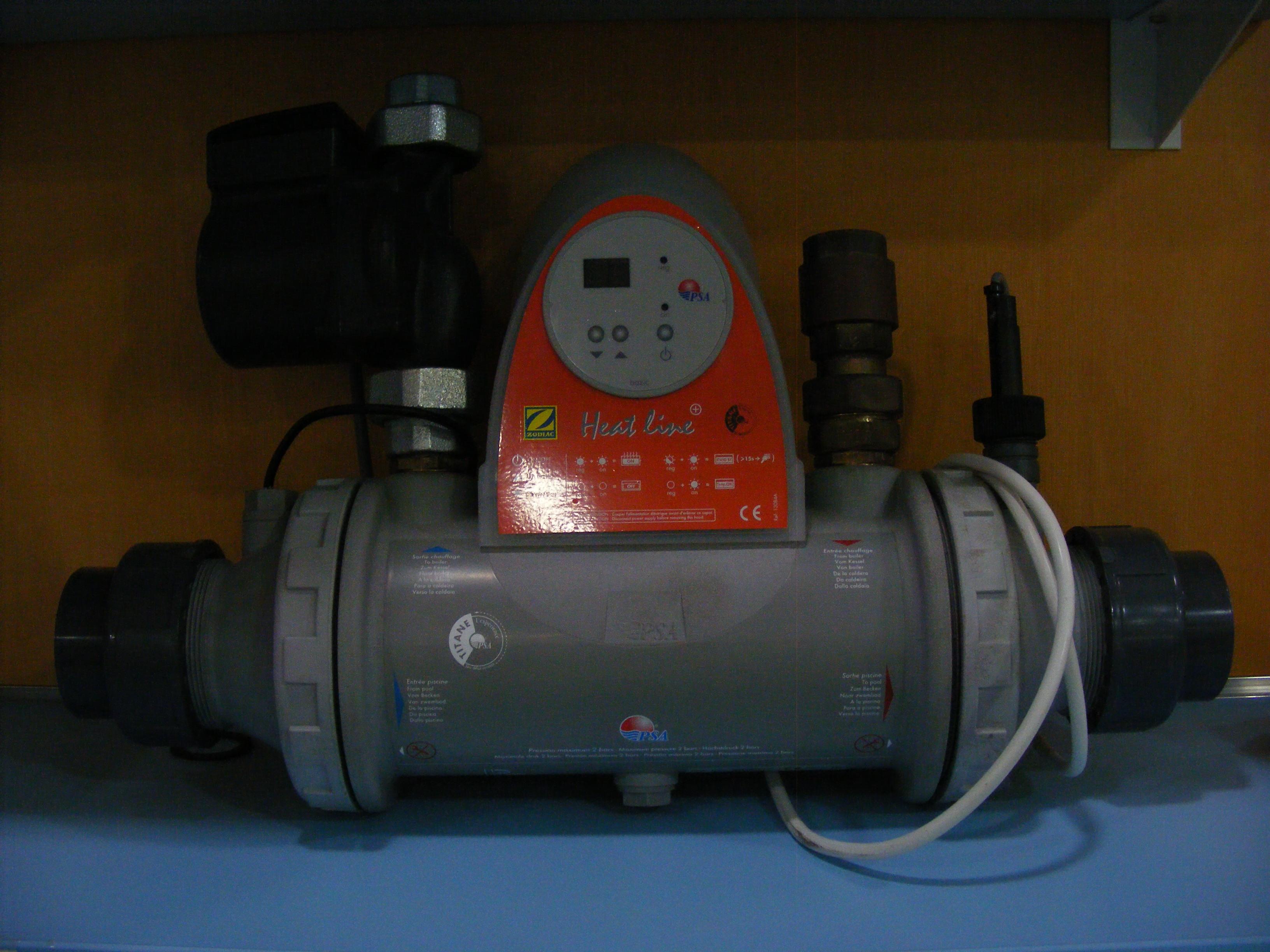 hőcserélő 20 kW desjoyaux vezérléssel