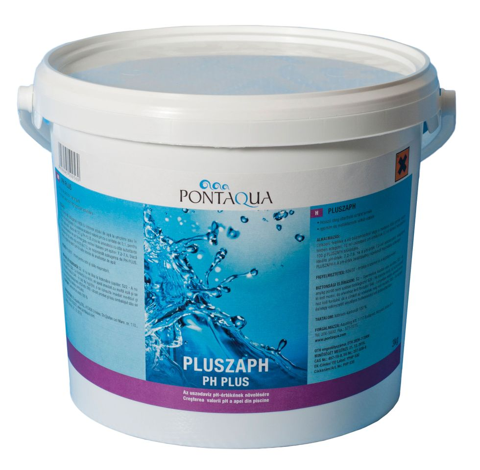 Medenc Uszodavegyszer pH plusz pH szabályozás, pH növelő